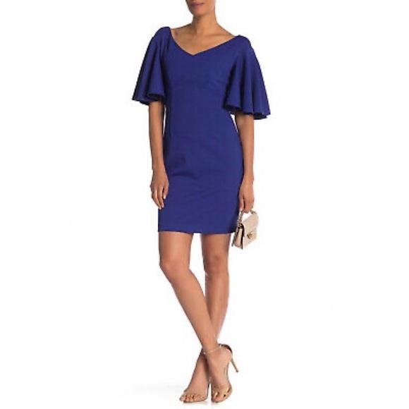 Trina Trina Turk blue Cielo Diamond Ponte Dress